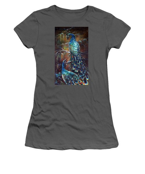 Two Peacocks Women's T-Shirt (Athletic Fit)