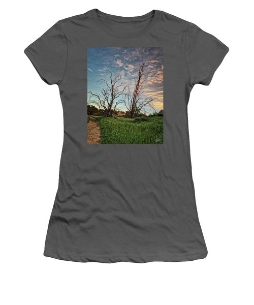 Two Sentinels Women's T-Shirt (Junior Cut) by Endre Balogh