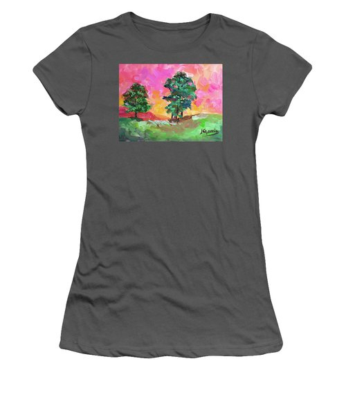 Two Trees Women's T-Shirt (Junior Cut) by Janet Garcia