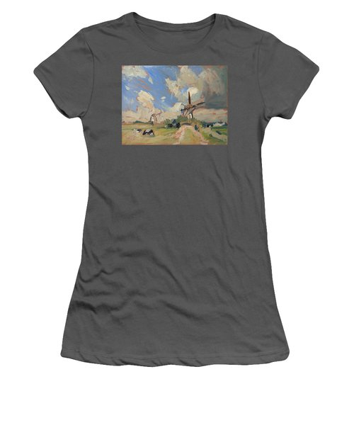 Two Windmills Women's T-Shirt (Athletic Fit)