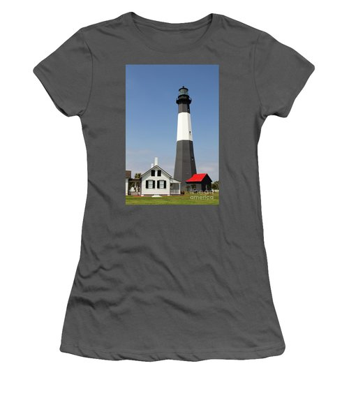 Tybee Lighthouse Georgia Women's T-Shirt (Athletic Fit)