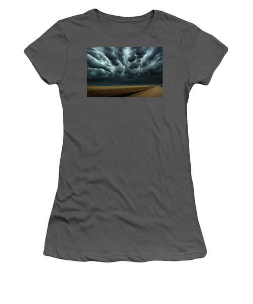Under A Mammatus Sky Women's T-Shirt (Athletic Fit)