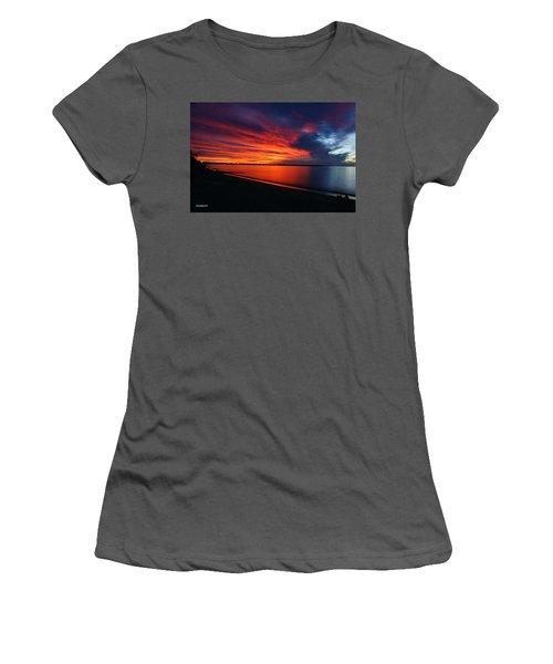 Women's T-Shirt (Junior Cut) featuring the photograph Under The Blood Red Sky by Gary Crockett