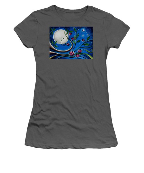 Under The Glowing Moon Women's T-Shirt (Athletic Fit)