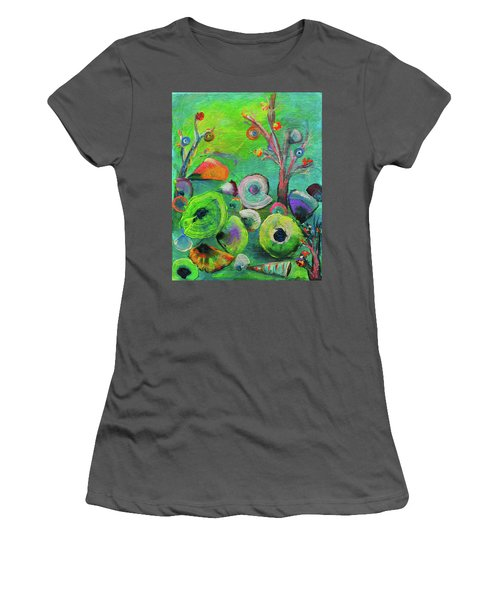 under the sea  - Orig painting for sale Women's T-Shirt (Athletic Fit)