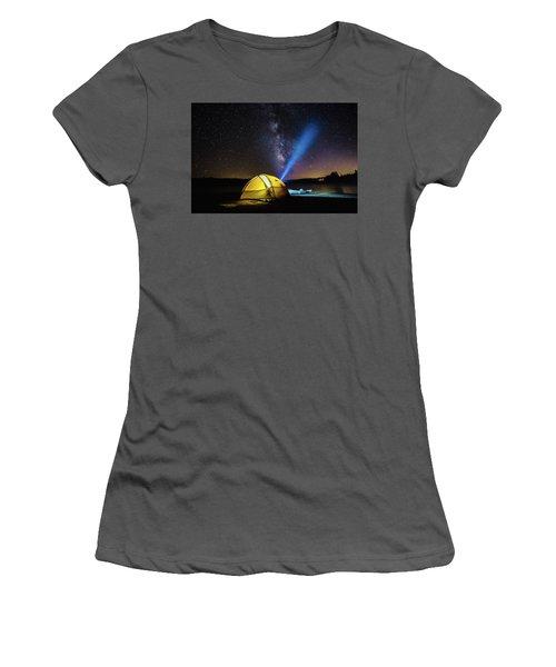 Under The Stars Women's T-Shirt (Junior Cut) by Alpha Wanderlust