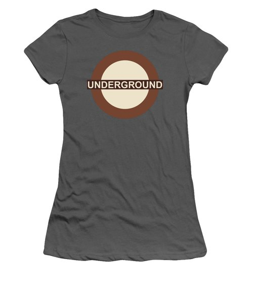 Women's T-Shirt (Junior Cut) featuring the digital art Underground75 by Saad Hasnain