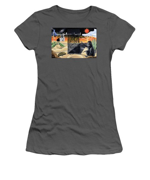 Women's T-Shirt (Junior Cut) featuring the painting Understanding Time by Ryan Demaree