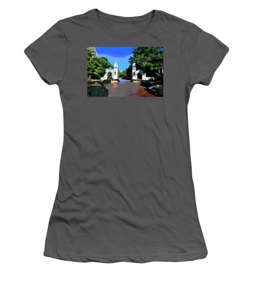 University Of Indiana Women's T-Shirt (Athletic Fit)