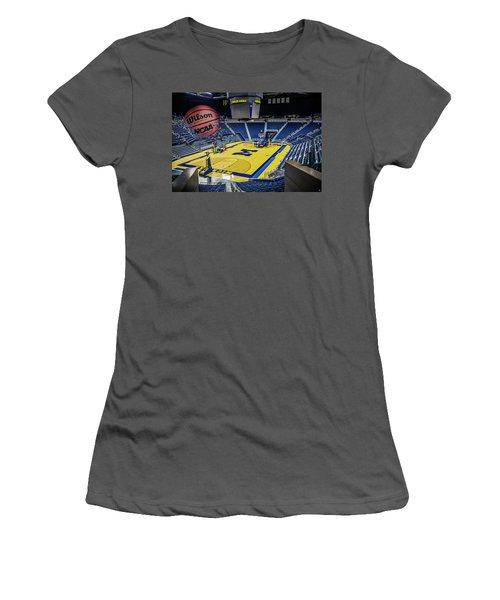 University Of Michigan Basketball Women's T-Shirt (Junior Cut) by Nicholas Grunas
