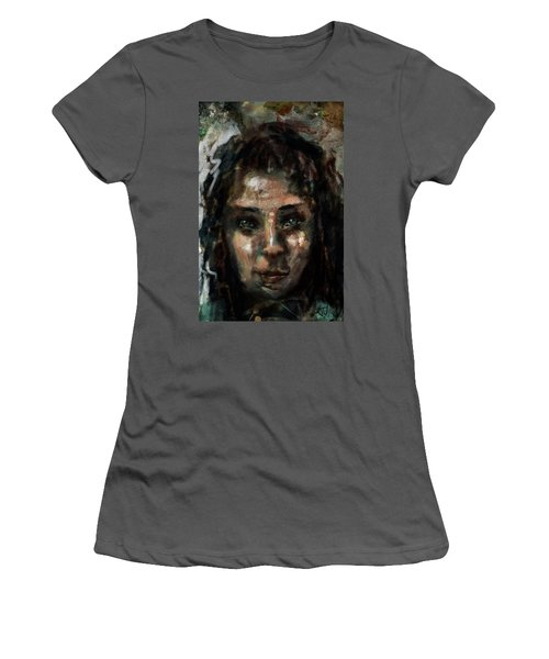 Women's T-Shirt (Athletic Fit) featuring the digital art Untitled - 24sept2017 by Jim Vance