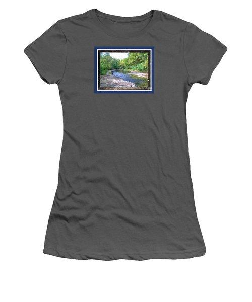 Up A Creek Women's T-Shirt (Junior Cut) by Shirley Moravec