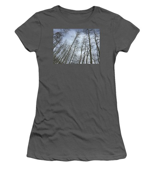 Up Through The Aspens Women's T-Shirt (Junior Cut) by Christin Brodie