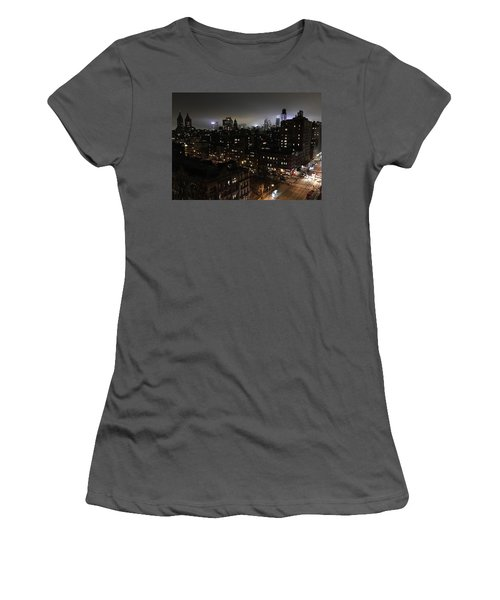 Women's T-Shirt (Junior Cut) featuring the photograph Upper West Side by JoAnn Lense