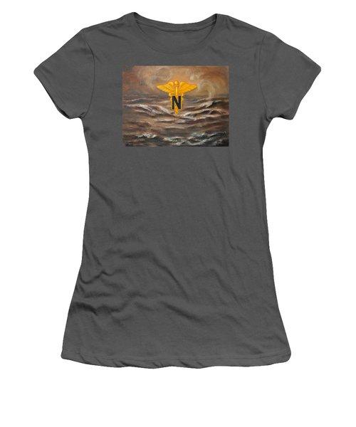 U.s. Army Nurse Corps Desert Storm Women's T-Shirt (Athletic Fit)