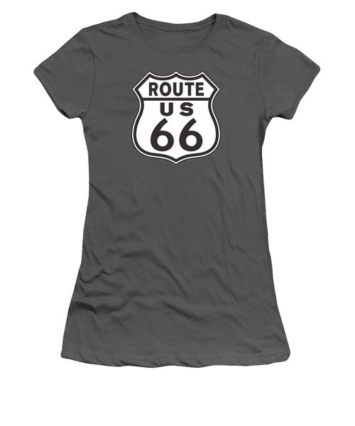 Us Route 66 Sign Women's T-Shirt (Athletic Fit)