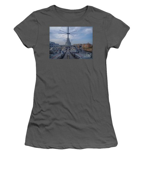 Uss Wisconsin  Women's T-Shirt (Junior Cut) by Melissa Messick