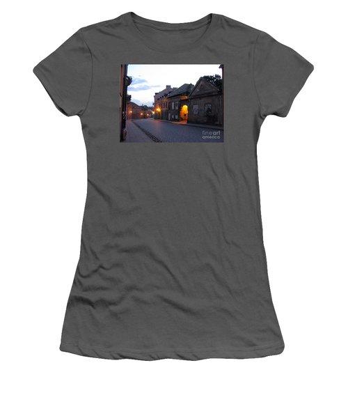 Uzupis Street. Old Vilnius. Lithuania. Women's T-Shirt (Junior Cut) by Ausra Huntington nee Paulauskaite