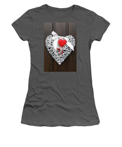 Women's T-Shirt (Junior Cut) featuring the photograph Valentine Heart by Juergen Weiss