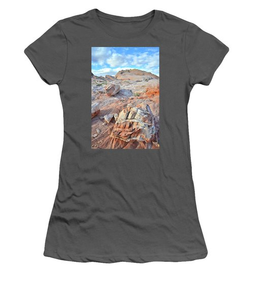 Valley Of Fire Boulders Women's T-Shirt (Junior Cut) by Ray Mathis