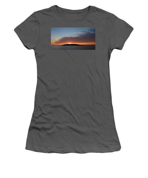 Women's T-Shirt (Junior Cut) featuring the photograph Variations Of Sunsets At Gulf Of Bothnia 1 by Jouko Lehto
