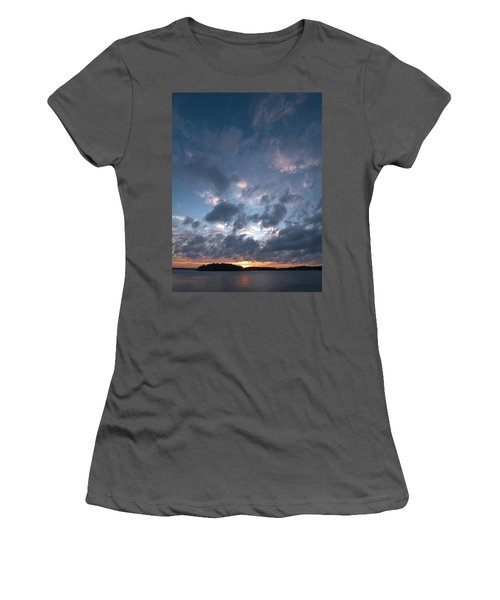 Women's T-Shirt (Junior Cut) featuring the photograph Variations Of Sunsets At Gulf Of Bothnia 5 by Jouko Lehto
