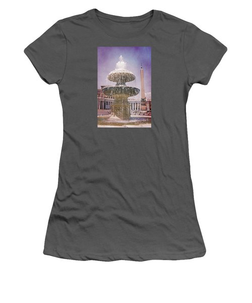 Vatican City Fountain Women's T-Shirt (Athletic Fit)
