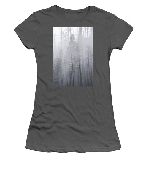Women's T-Shirt (Athletic Fit) featuring the photograph Veiled In Mist by Dustin LeFevre