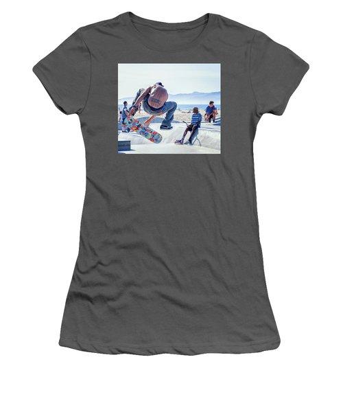 Venice Beach Skater Women's T-Shirt (Athletic Fit)
