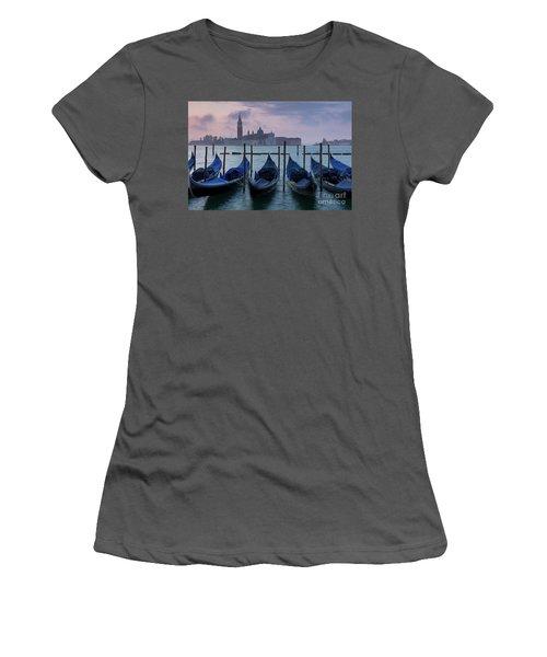 Women's T-Shirt (Junior Cut) featuring the photograph Venice Dawn IIi by Brian Jannsen