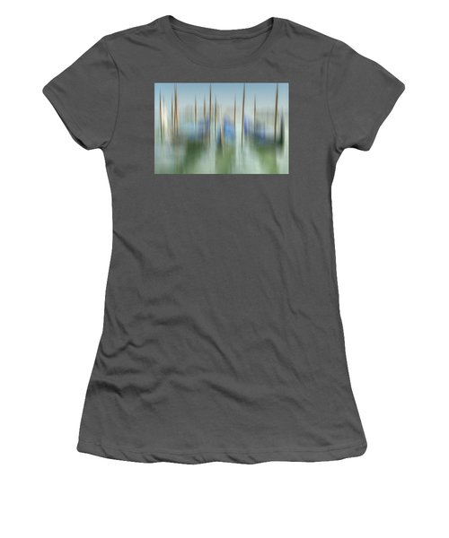 Venice Gondolas Impression 1 Women's T-Shirt (Junior Cut) by Marty Garland