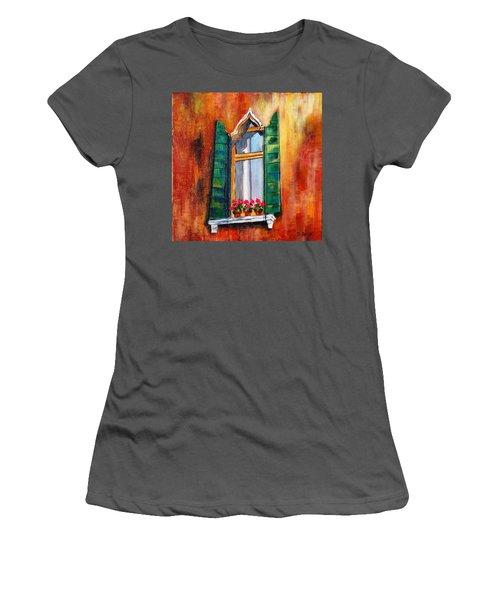 Venice Window Women's T-Shirt (Athletic Fit)