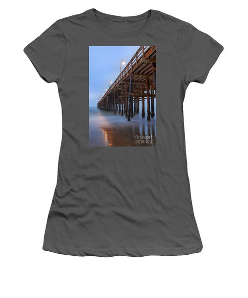 Ventura Ca Pier At Dawn Women's T-Shirt (Athletic Fit)