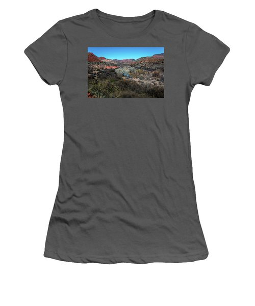 Verde Canyon Oasis Women's T-Shirt (Athletic Fit)