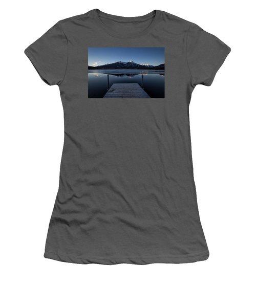 Vermillion Lakes At Dawn Women's T-Shirt (Athletic Fit)