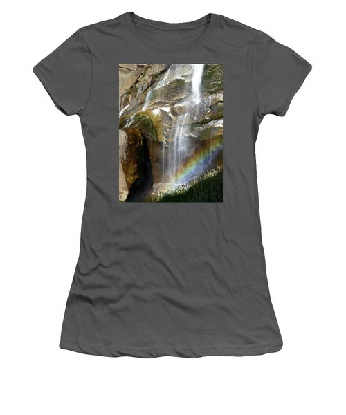 Vernal Falls Rainbow And Plants Women's T-Shirt (Junior Cut) by Amelia Racca