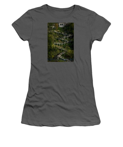 Vertical Stairs Women's T-Shirt (Athletic Fit)