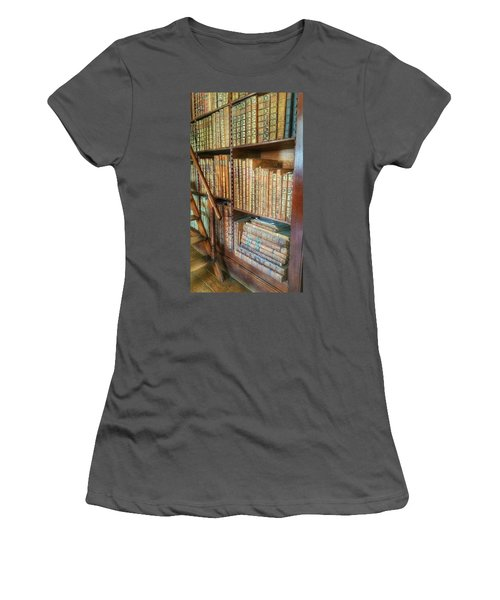 Victorian Library Women's T-Shirt (Junior Cut) by Isabella F Abbie Shores FRSA