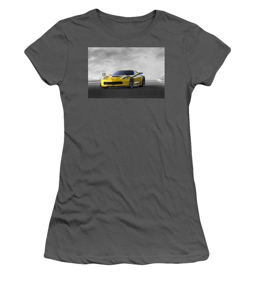 Women's T-Shirt (Junior Cut) featuring the digital art Victory Yellow  by Peter Chilelli