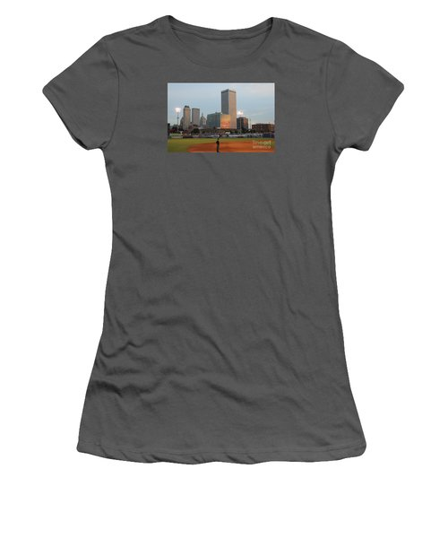 View From 3rd Base 2 Women's T-Shirt (Athletic Fit)