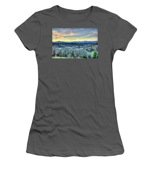 Women's T-Shirt (Junior Cut) featuring the photograph View From Biltmore by Wade Brooks