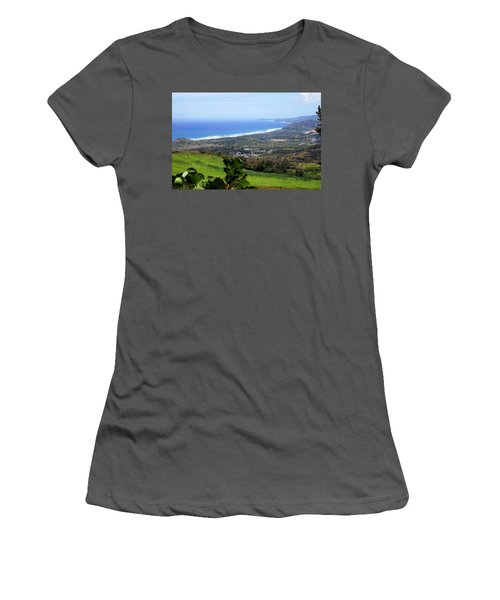 Women's T-Shirt (Junior Cut) featuring the photograph View From Cherry Hill, Barbados by Kurt Van Wagner