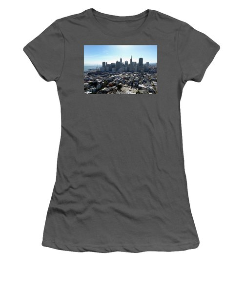 Women's T-Shirt (Junior Cut) featuring the photograph View From Coit Tower by Steven Spak
