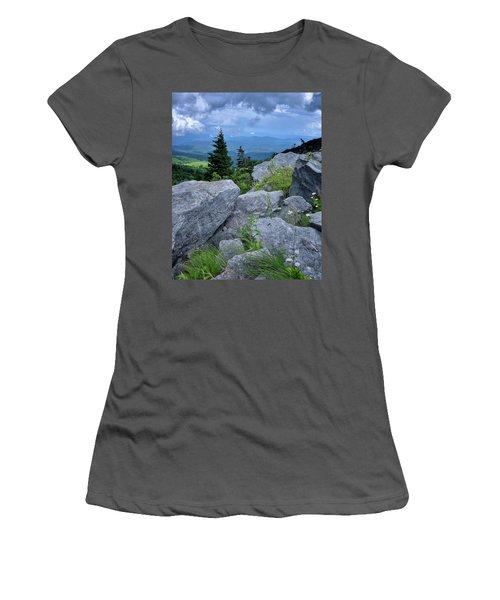 View From Grandfather Mtn Nc Women's T-Shirt (Junior Cut) by Steve Hurt