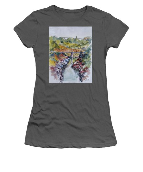 View From No Hands Bridge Women's T-Shirt (Junior Cut) by William Reed