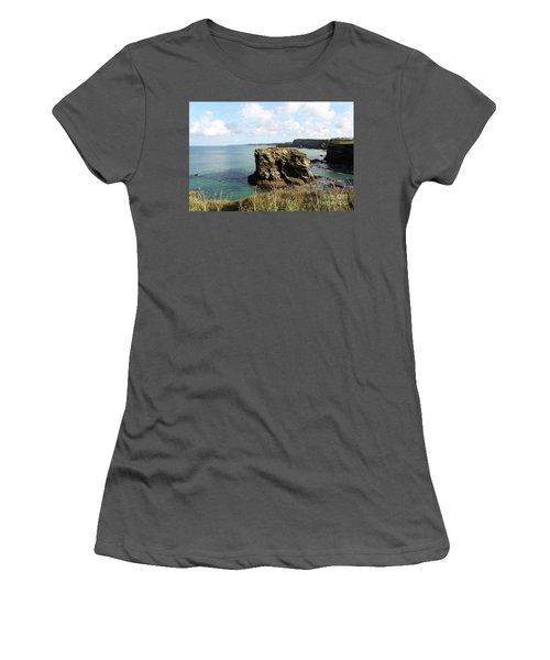 Women's T-Shirt (Junior Cut) featuring the photograph View From Porth Peninsula by Nicholas Burningham
