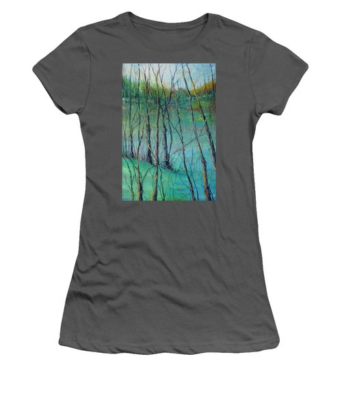 View Of Nature's Canvas Women's T-Shirt (Junior Cut) by Robin Miller-Bookhout