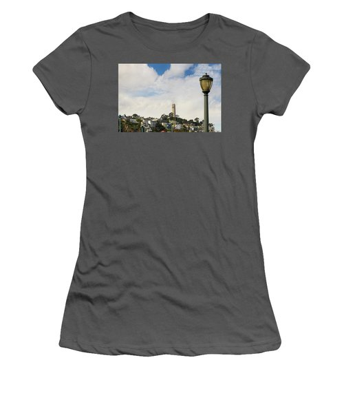 View Of Telegraph Hill Neighborhood San Francisco Women's T-Shirt (Athletic Fit)