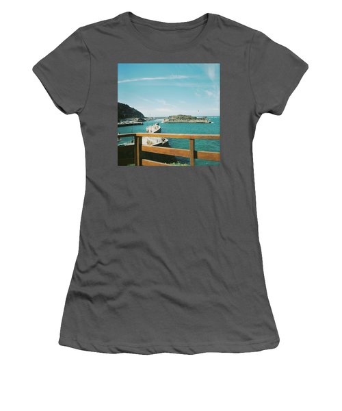 View Over The Ocean Port Women's T-Shirt (Athletic Fit)