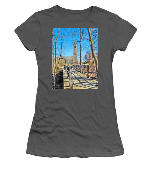View To Mcgraw Tower Women's T-Shirt (Athletic Fit)